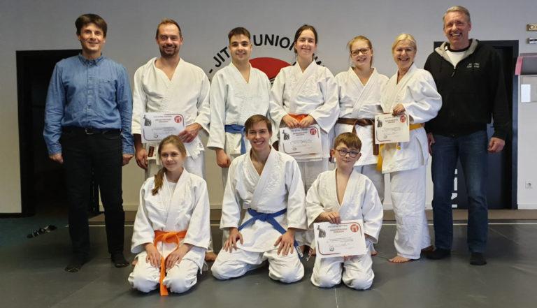 Prüfung im Jiu Jitsu