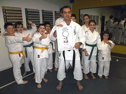 Prüfung im Karate